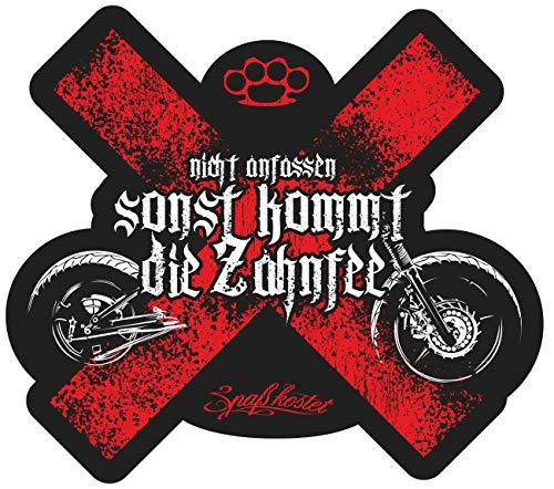 Aufkleber Biker Motorrad Spruch Zahnfee (wetterfest)