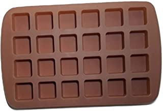Bite-Size Brownie Pan Square Silicone Baking Molds For Keto Fat Bomb Chocolate Peanut Butter Mini Muffin Cake Candy Jello ...