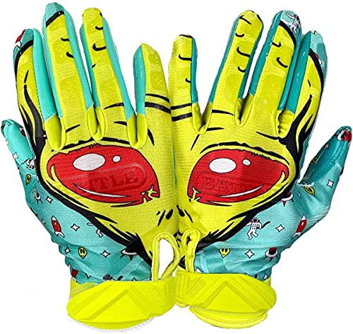 Battle Sports Alien Ultra-Stick Football Receiver Gloves for Youth and Adults