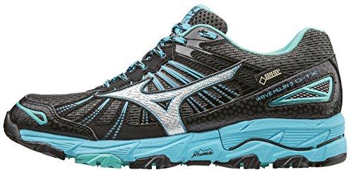 Mizuno Wave Mujin 3 G-TX (w), Zapatillas de Running para Asfalto para Mujer, Gris (Dark Shadow/Silver/Norse Blue), 36.5 EU