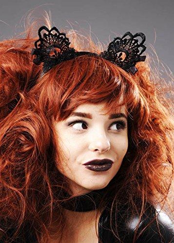 Oreilles de chat dames magnifique dentelle noire
