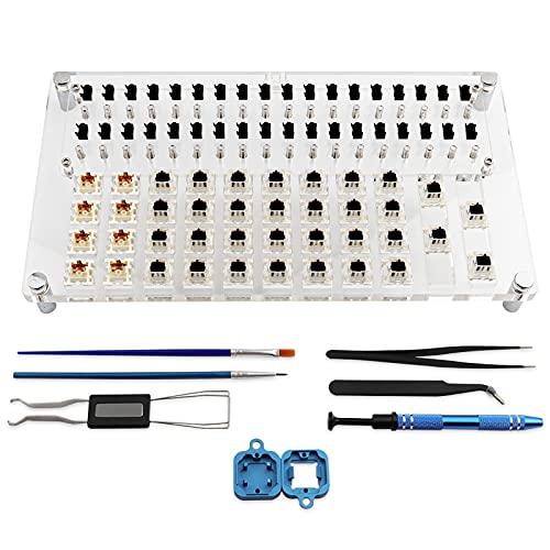 JakeTsai Lube Station 36 Switch Tester Opener Platform Set für mechanische Tastatur Cherry Switches Tester Gateron Lubing Station Kit
