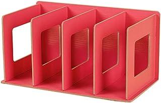 N/F Étagère Simple à Plusieurs Niveaux 4 grilles étagère de Rangement créative Divers Bricolage Support de Livre en Bois d...