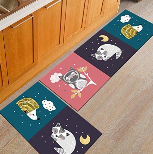 AiseBeau 1 Pcs Comfort Flannel Kitchen Rug Comfort Kitchen Floor Mat Non-Slip Kitchen Mat Soft Kitchen Runner Bedside Runner Entrance Runner Door Mat Mashine Washable 15.7X23.6 in