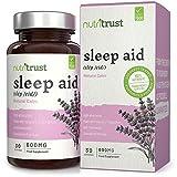 Schlafhilfe 600 mg Kapseln von Nutritrust® - pflanzliche & natürliche