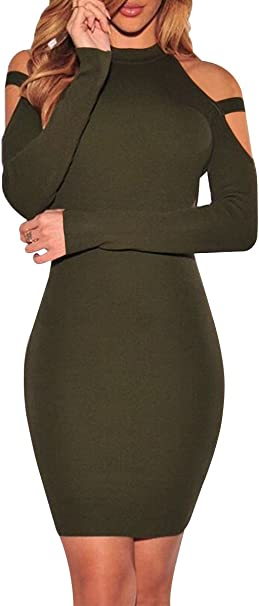 Yming Damen Kleid Figurbetont Club Kleid Elegantes Bleistiftkleid Schulterfreies Kleid Xs Xl De 34 42 Amazon De Bekleidung