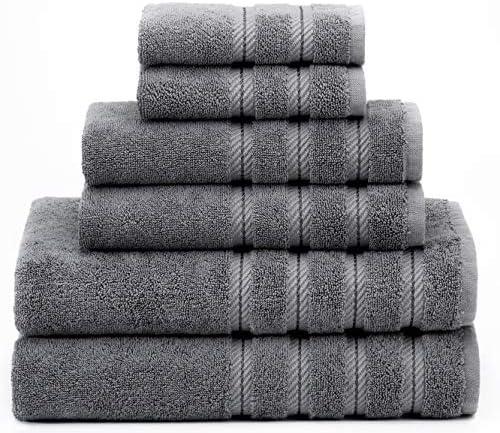 American Soft Linen 6 Piece 100 Turkish Genuine Cotton Premium Luxury Towel Set for Bathroom product image