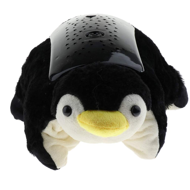 P Prettyia 動物の形 ナイト ベビーベッドルーム プロジェクター ライト ランプ おやすみトイ 4色 - ペンギン