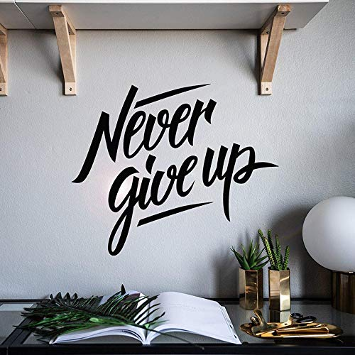 Tianpengyuanshuai Niemals aufgeben Wandaufkleber Motivation Zitat Satz Wohnkultur Wohnzimmer Schlafzimmer Schlafzimmer Wandtattoo Kunst Wandbild 51X42cm
