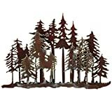 Black Forest Décor Mountain Forest Metal Wall Art