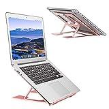 HBNF Stand Portable réglable, Ventilé Notebook Riser Ergonomique Portable pour Bureau, Multi-Angle Portable Anti-Slip...