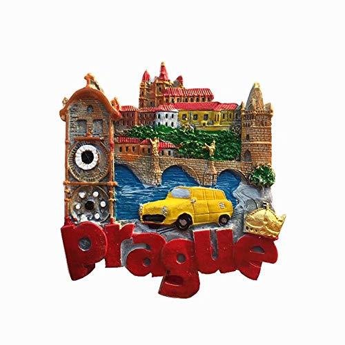 Weekino Praga Ceca Calamità da frigo 3D Polyresin Tourist City Viaggio Souvenir Collezione Regalo Forte Frigorifero Sticker
