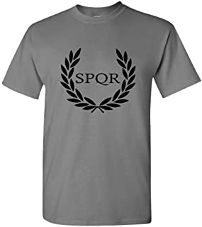 SPQR Roman Eagle Empire Caesar Wreath Oak - Mens Cotton T-Shirt