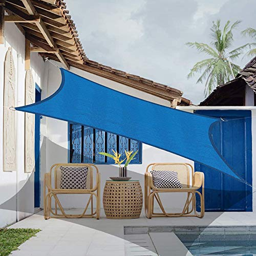 XFY Toldos Impermeables Exterior, Cool Area Toldo Vela de Sombra Rectangula, A Prueba de Viento y Desgarro, Utilizado en Exteriores, Jardines, Piscinas y Terrazas