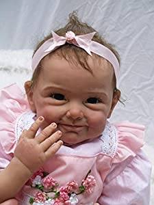 The reborn doll measures Approx 22 inches (55cm) from head to toe, and weight 3.3lbs approximately. The baby is made of silicone vinyl&cloth. The baby has soft vinyl head and 3/4 limbs and a lovely soft cotton jointed body. You cannot bath him The re...