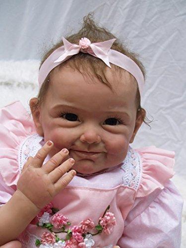 22 inch 55CM Reborn Baby Doll Muñeca Realista del bebé los niños hechos a mano regalo del bebé renacer de la muñeca de silicona suave Simulación de vinilo de realista juguete lindo de la muñeco