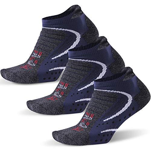 Facool Dri-fit - Calcetines deportivos acolchados para hombre (3/6/8 pares), Hombre, color Gris / azul 3 pares., tamaño L