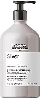 L'Oréal Professionnel Paris Shampoo professionale per capelli grigi e bianchi Silver Serie Expert, Formula neutralizzante ...
