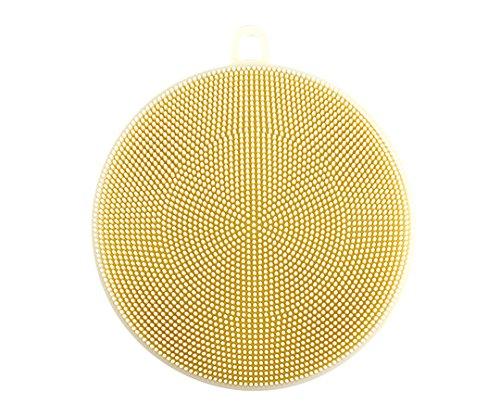 シリコンタワシ(食洗機可) Φ120×10mm ホワイト /7-3577-01