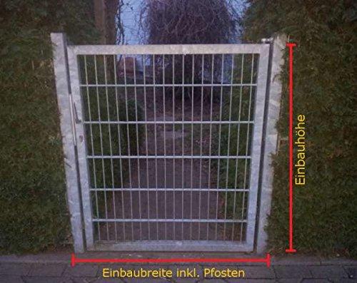 Einfahrtstor Gartentor Matten-Tor Hoftor Törchen verzinkt / 125cm x 103cm (BxH) inkl. Pfosten