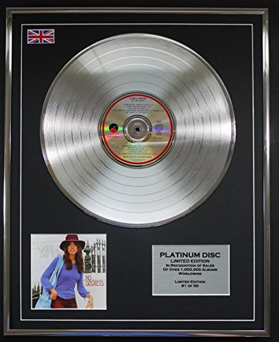 CARLY SIMON/LTD Edicion CD platinum disc/NO SECRETS