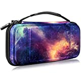Fintie Carry Case for Nintendo Switch - [Shockproof] Hard Shell Protective Cover Travel Bag w/10 Game Card Slots, Inner Pocket for Nintendo Switch Console Joy-Con & Accessories (Galaxy)