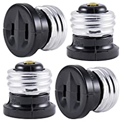Adapter: Transform a light socket into an outlet when you need one with the GE Polarized handy outlet plug 2 Pack (4 Total) Convenient: Use in a space that might not have an outlet where you need in most like in your garage, workshop or shed Easy to ...