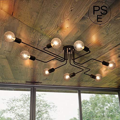 ペンダントライト - LINGKAI 吊下げ灯 LED 電球対応 8灯 北欧風ペンダントライト e26 e27 40W LED アンティーク吊り下げ照明 キッチン・リビング照