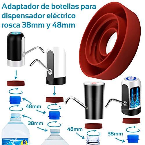MovilCom® - Adaptador de Botella para dispensador de Agua Eléctrico Compatible con Botellas 5, 6, 8, 10, 12 litros | para Botellas o adaptadores con diámetro 38mm (38mm y 48mm)