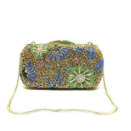 YBQ Fashion Frau Quader Abendtasche Handtasche-Partei-Kleid-Beutel-Schulter-Kurier-Beutel 18 * 10 * 5cm smple (Farbe : Green)