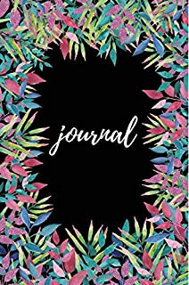 Black & Floral Journal: Beautiful Writing Notebook, Diary, Planner, Organizer, Sketch Book, Calligraphy Practice, Composit...