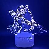 3D Illusion Nachtlicht, 3D LED Nachtlicht Lampe Spiel Die Legende von Zelda Link Figur Home...