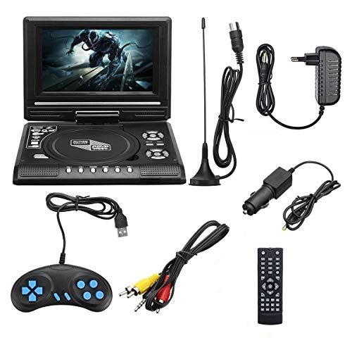 Read About 7.8 Inch Portable HD TV Home Car DVD Player, 16:9 Rotate LCD Screen VCD CD MP3 DVD Player...