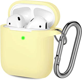 Hamile Compatible with AirPods Case [Front LED Visible] Soft Silicone Protective Cases..