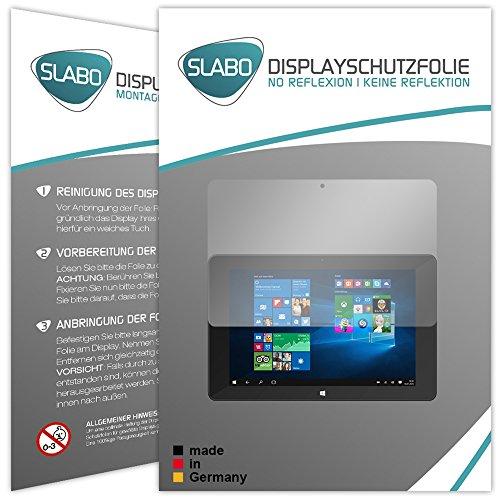 Slabo 2 x Bildschirmschutzfolie für TrekStor SurfTab Duo W1 Bildschirmschutz Schutzfolie Folie No Reflexion | Keine Reflektion MATT