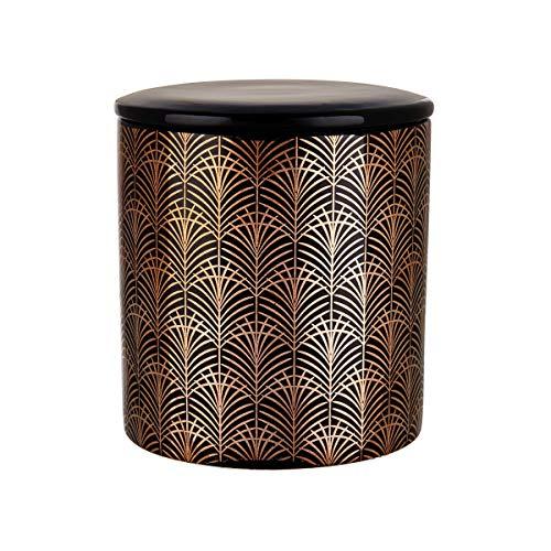 Butlers Decadence - Aufbewahrungsdose 800 ml - Aufbewahrung in Schwarz-Gold - aus Keramik