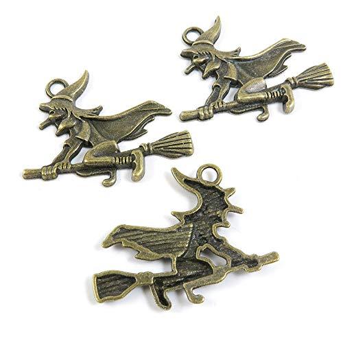 Antieke Bronzen Tone Sieraden Charms F2FC6B heks tovenares ambacht kunst maken Crafting Kralen Antiek brons