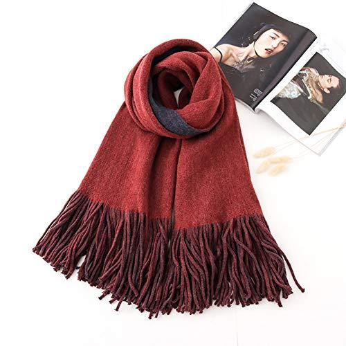 Bingsl sjaal, herfst, winter, vrouwelijk, plaid, sjaal, breed, net, lang, mok, sjaal, warm, tippet