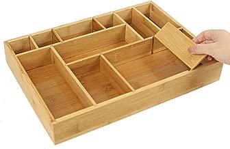 elbm/öbel Besteckkasten K/üchenorganizer aus Bambus 30 x 30 x 5 cm Schubladeneinsatz mit 5 F/ächern f/ür Besteck natur der perfekte Schubladenorganizer aus stabilem Holz Schmuck