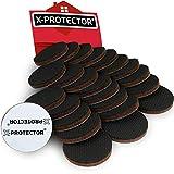 Piedini antiscivolo gomma X-PROTECTOR – Premium piedini adesivi per mobili – Piedini di gomma adesivi 24 pz 50mm – Antiscivolo per mobili di alta qualità – Migliori autoadesivi gomma!