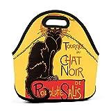 XCNGG Cartel Vintage de Le Chat Noir para hombres, mujeres, niños, bolsa de almuerzo aislada, caja...