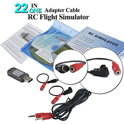 YUNIQUE DEUTSCHLAND XM-YBIH-HL5M 22 in 1 RC Flight Simulator Adapter Cable for G7 Phoenix 5.0 XTR VRC Transmitter, Flysky Frsky Remote Controller FPV Racing