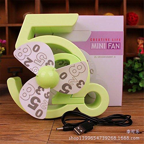 Mini USB per la ricarica della batteria bellissimo regalo ventilatore ventola, verde