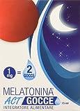 Linea ACT Melatonina Act Gocce- Integratore Alimentare in Gocce a Base di Melatonina - 300 Gocce (2 Gocce=1Mg di Melatonina), Blu, 15 Millilitri