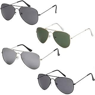 Wholesale Bulk Lot Promotional Unisex Classic Pilot Aviator Sunglasses - 4 Pack