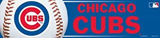 MLB Chicago Cubs Bumper Sticker, Team Color, One Size