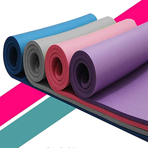 Yoga Mats, Non Slip 15 MM Thick Fitness Exercise Mat for Women Men, Eco Friendly Workout Mat with Carrying Strap for Yoga Pilates Home Gym Travel Floor Exercises (Blue)