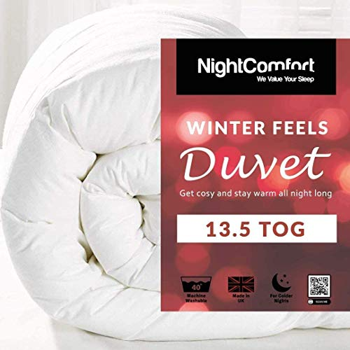 Night Comfort Winter Feels 13.5 Tog Duvet - Winter Quilt Single Double King Size Super King (King)