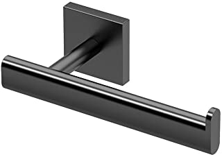 Gatco 4053MX Elevate Bathroom Single Post Euro Style Toilet Paper Holder, Matte Black