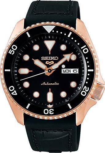 Seiko 5 Specialist Herren-Uhr Edelstahl mit Band aus Leder und Silikon SRPD76K1